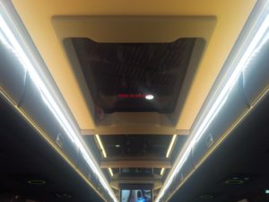 electric double glazed escape ventilation hatches on a luxury coach