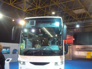 full length electric scissor shade on a coach