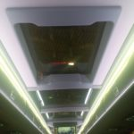 manual double glazed hatch on a luxury commuter coach