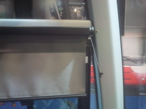 manual scissor blind TN.14.3 with smoother on a drivers window
