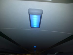 our led lightings in a row in a citybus