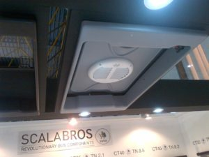 spartacos escape hatch in abs with integrated biderectional roof top ventilator
