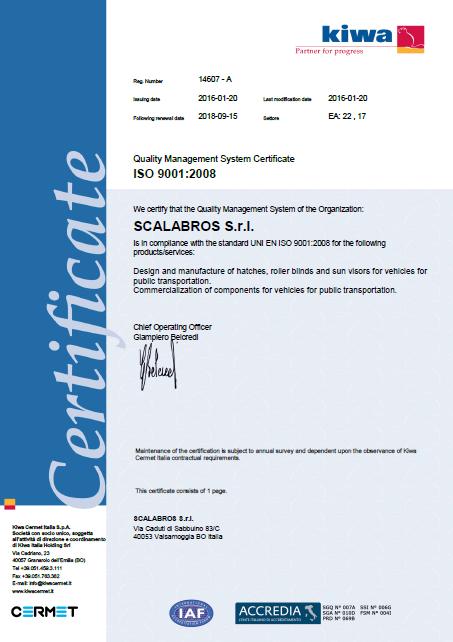 certificatoiso