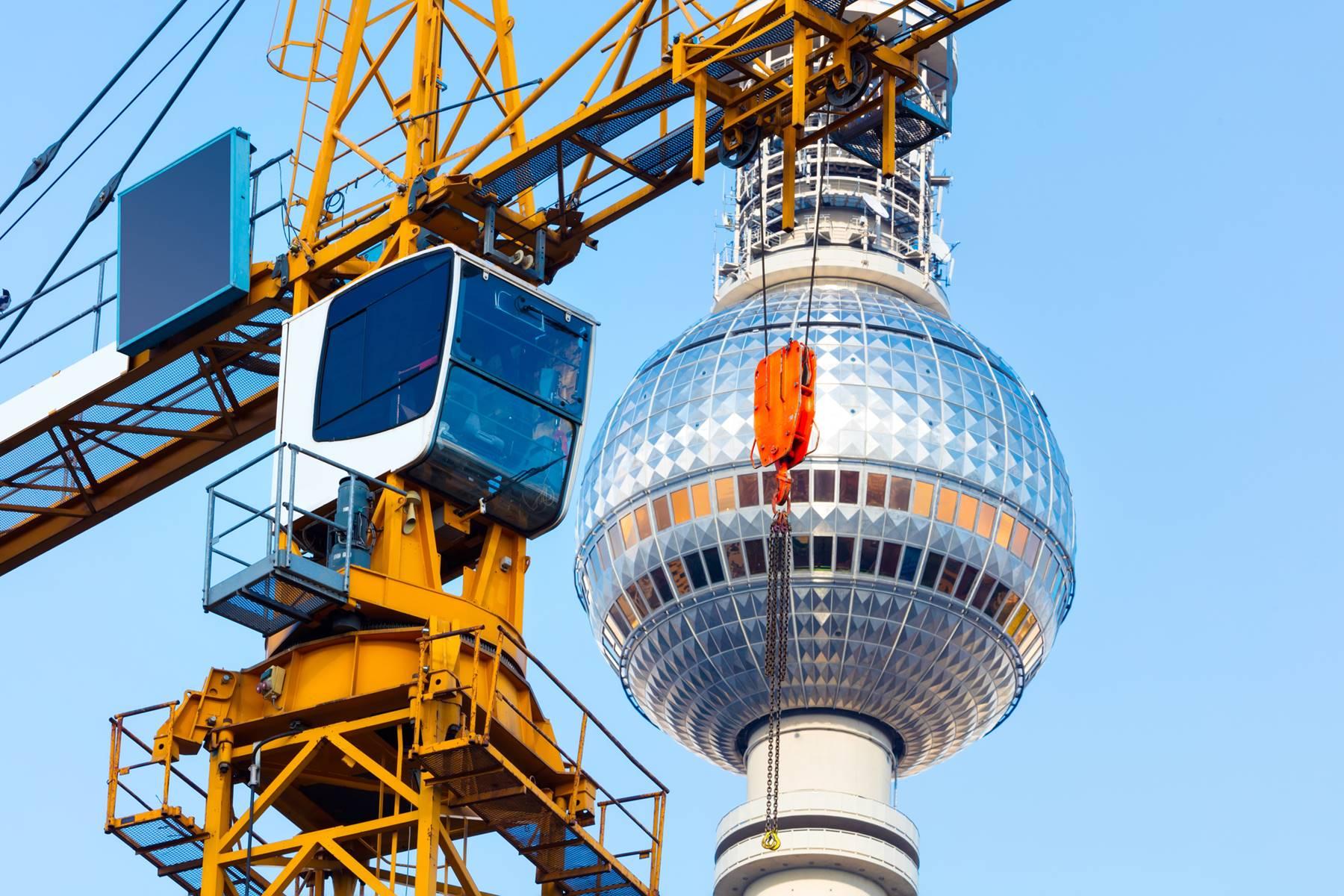 Baustelle Hochbau Berlin Alexanderplatz Mitte Hausbau