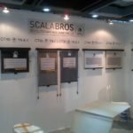 spartacos rollerblinds on scalabros booth at busworld 2013