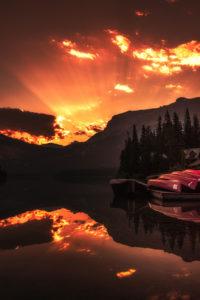Sunrise at Emerald Lake, Yoho
